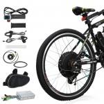 "Voilamart 48V 1000W 26"" Rear Wheel Electric Bicycle Motor Conversion Kit Bike Cycling Hub"