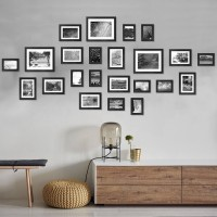 Voilamart Multi Picture Frames Set of 23 Photo Frames Wall Set DIY Home Wall Mount Frame with Accessory Pack (Black)