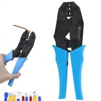 Voilamart Insulated Wire Crimper, Wire Terminals Connectors Ratcheting Crimper Plier Tool for 22-10AWG